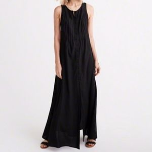 Abercrombie and Fitch Black Sleeveless Maxi